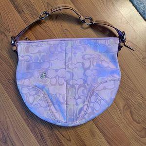 Coach lilac purple hobo shoulder bag